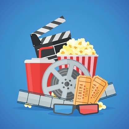 Cinema movie poster design vector template Clipart Image.