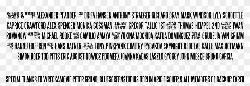 Transparent Movie Poster Credits.