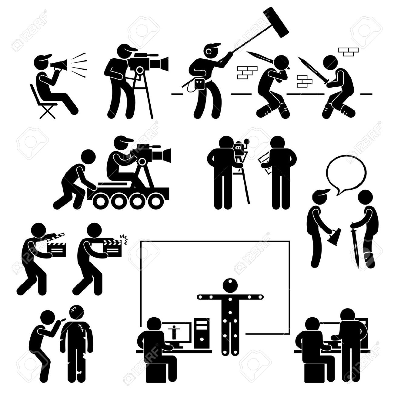 13,205 Movie Production Stock Vector Illustration And Royalty Free.