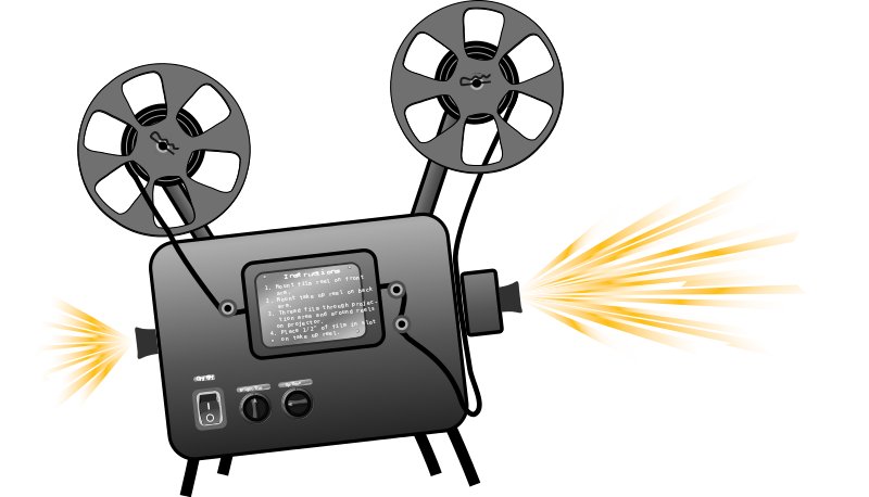 Free Clipart: Film projector.