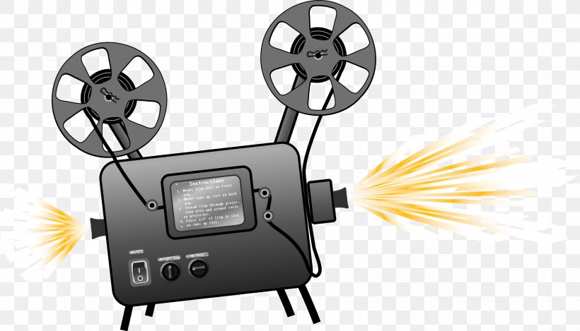 Photographic Film Movie Projector Clip Art, PNG, 2400x1373px.