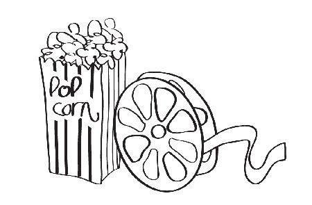 popcorn and reel.