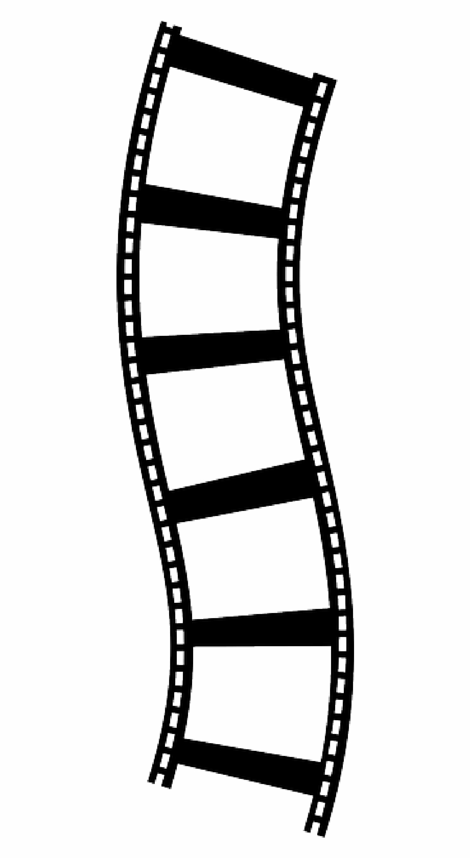 Movie Reel Showing Post Clipart.