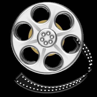 Film, media, movie, reel, video icon.