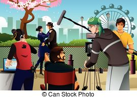 Clipart Images Of A Shooting A Movie Scene.
