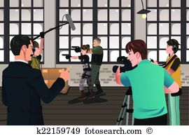 Movie making Clip Art Illustrations. 332 movie making clipart EPS.
