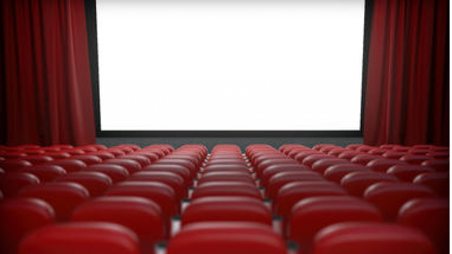 Auditorium,Red,Projection screen,Movie theater,Theatre.