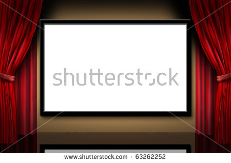 Movie Screen Stock Images, Royalty.