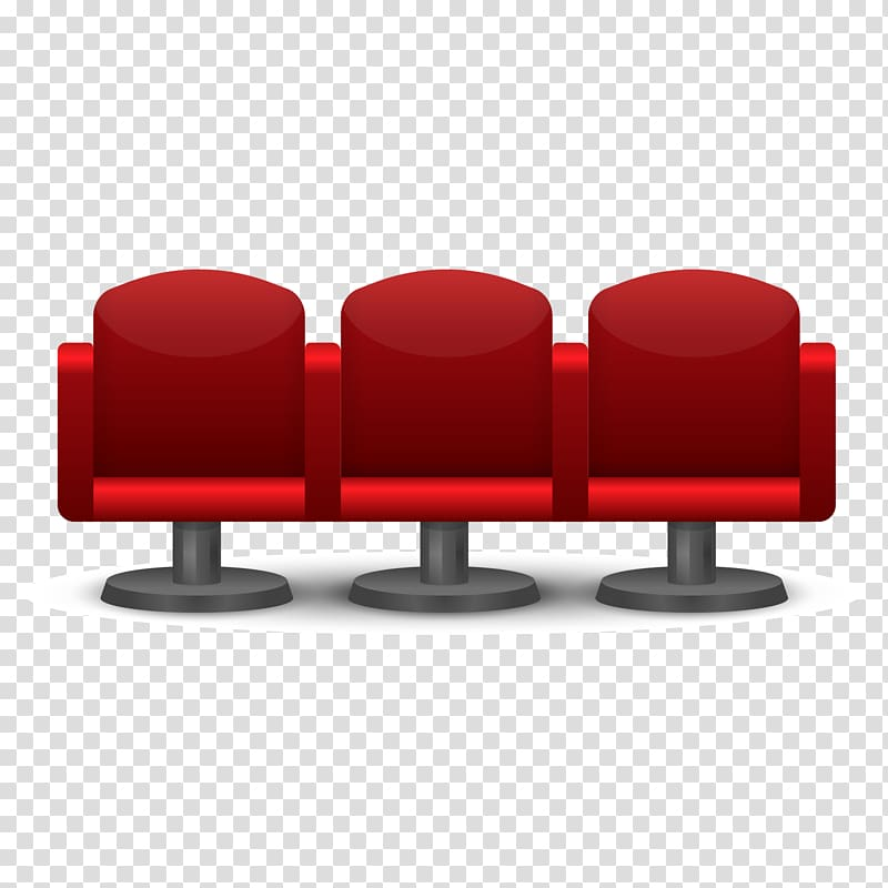 Cinema Chair Seat, 3 theater seat material transparent.