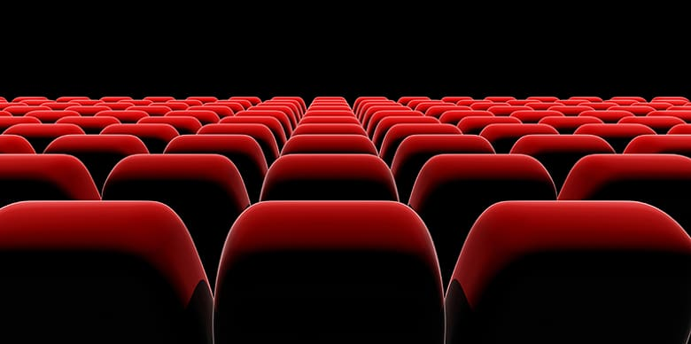 Red chairs , Cinematography Film Seat, Hd Background Movie.