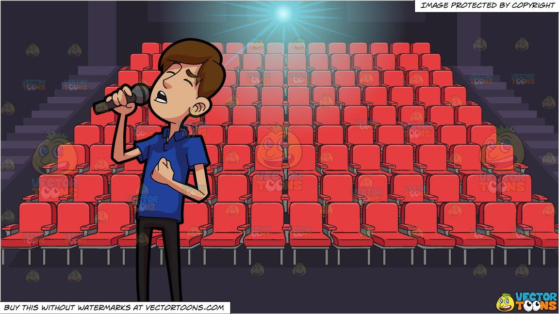 clipart #cartoon A Man Singing A Heartfelt Song and Movie.