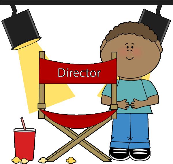 Kid on Movie Set Clip Art.