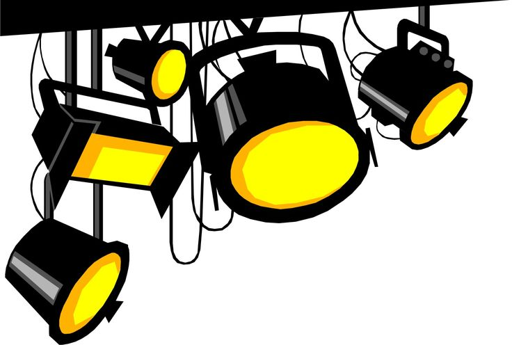 Movie Set Lights Clipart.