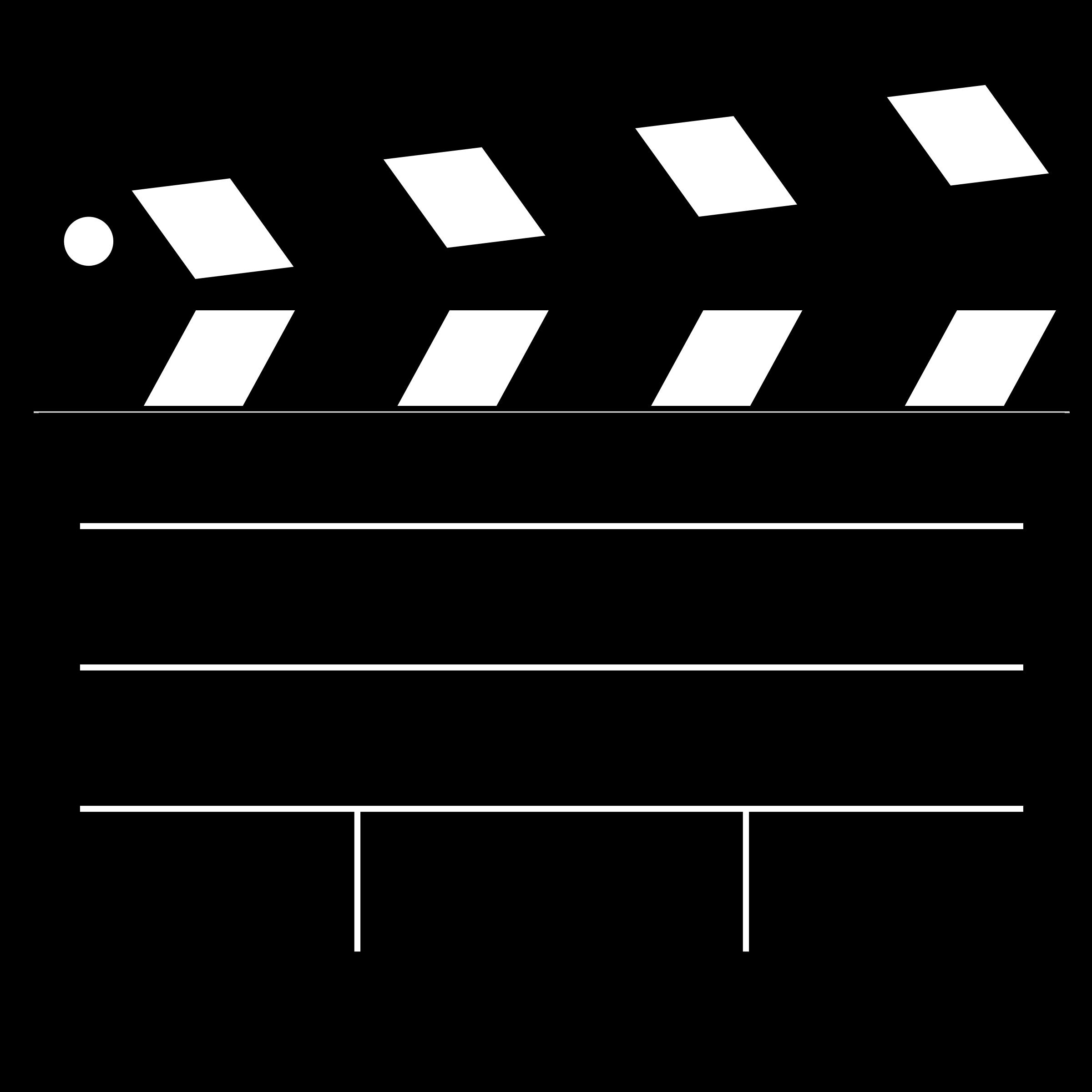 Movies clipart film slate, Movies film slate Transparent.