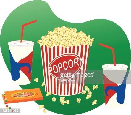 Movie Snacks premium clipart.