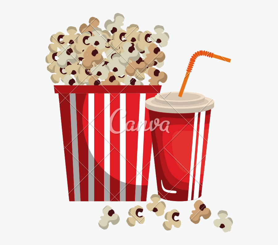 Transparent Movie Popcorn Png.