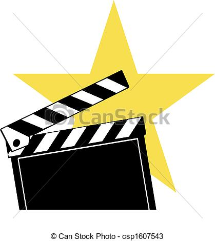 Movie star clipart.