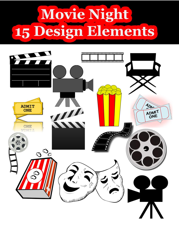 Hollywood Symbols Clipart.