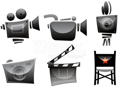 movie symbols Clipart Image.