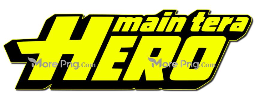 Main Tera Hero Movie Text PNG.
