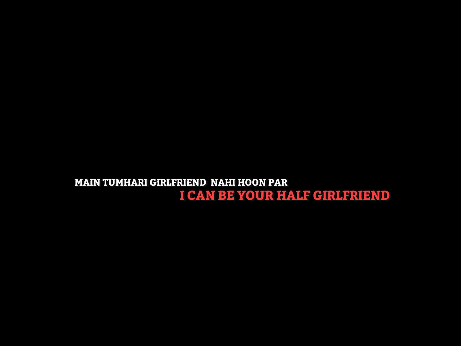 Designer Randhir : ☆ HALF GIRLFRIEND MOVIE TEXT PNG 《《 BY.