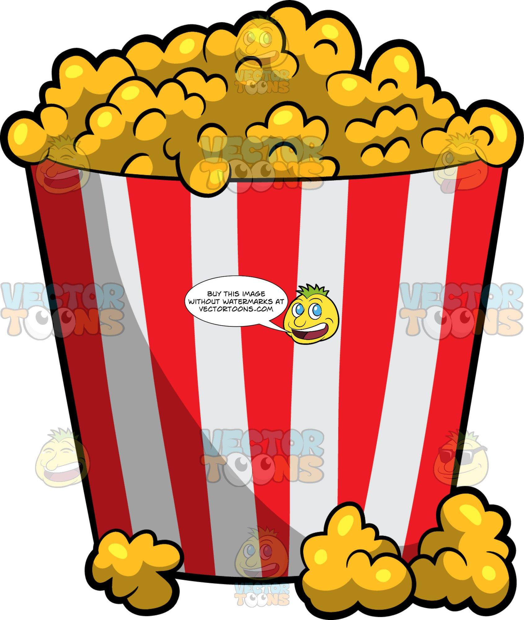 A Bucket Of Movie Theater Popcorn.