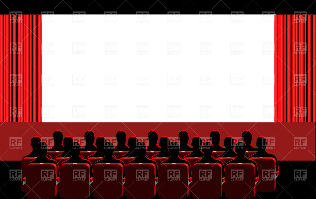 Movie Theater Borders Clipart.