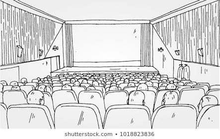 Movie theatre clipart black and white 5 » Clipart Portal.