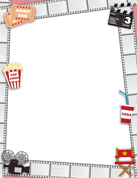 Movie Border Clip Art.
