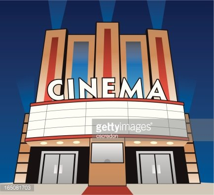 movie theater Clipart Image.