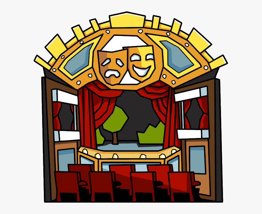 Scribblenauts Movie Theater Clipart , Png Download.