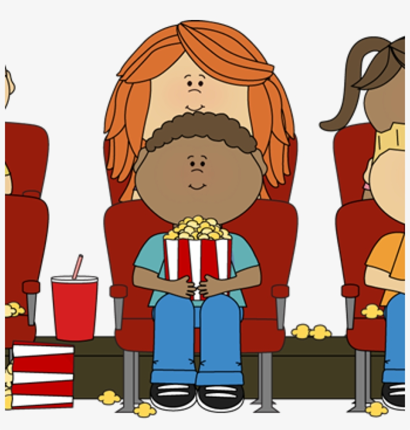 Movie Theater Clipart Kids Watching Movie In Theater.