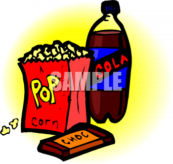 Soda, Popcorn and Candy Clipart Picture.