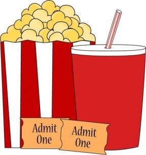 Movie Snacks Clipart.