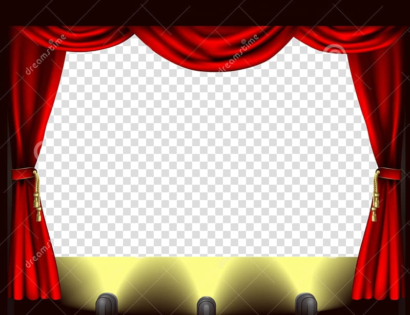 Theater , Stage lighting Theater drapes and stage curtains.