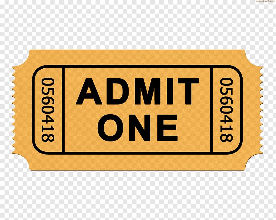 Admit One ticker, Ticket Admit One Cinema, ticket free png.