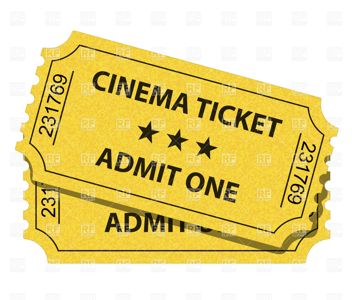Movie Theater Ticket Clipart.