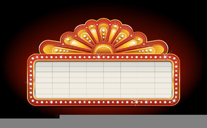 Movie Theater Billboard Clipart.