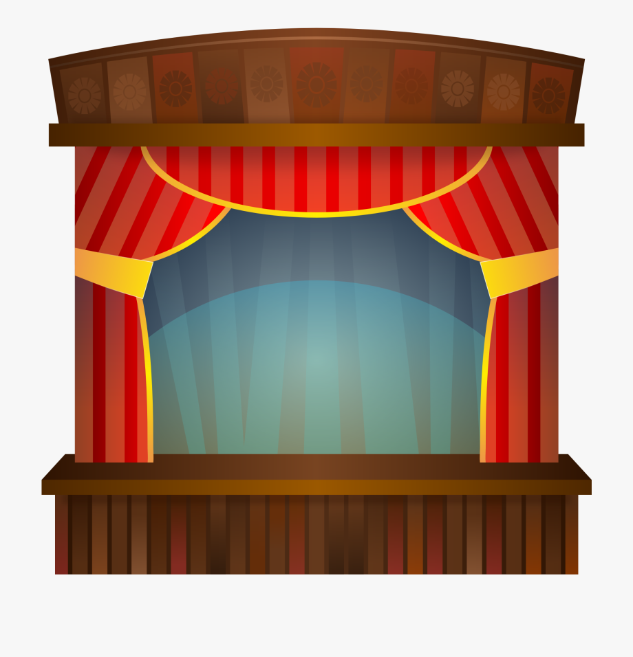 Movie Theater Curtains Clipart.