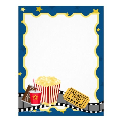 Film Strip on Black and White Ribbon Letterhead.
