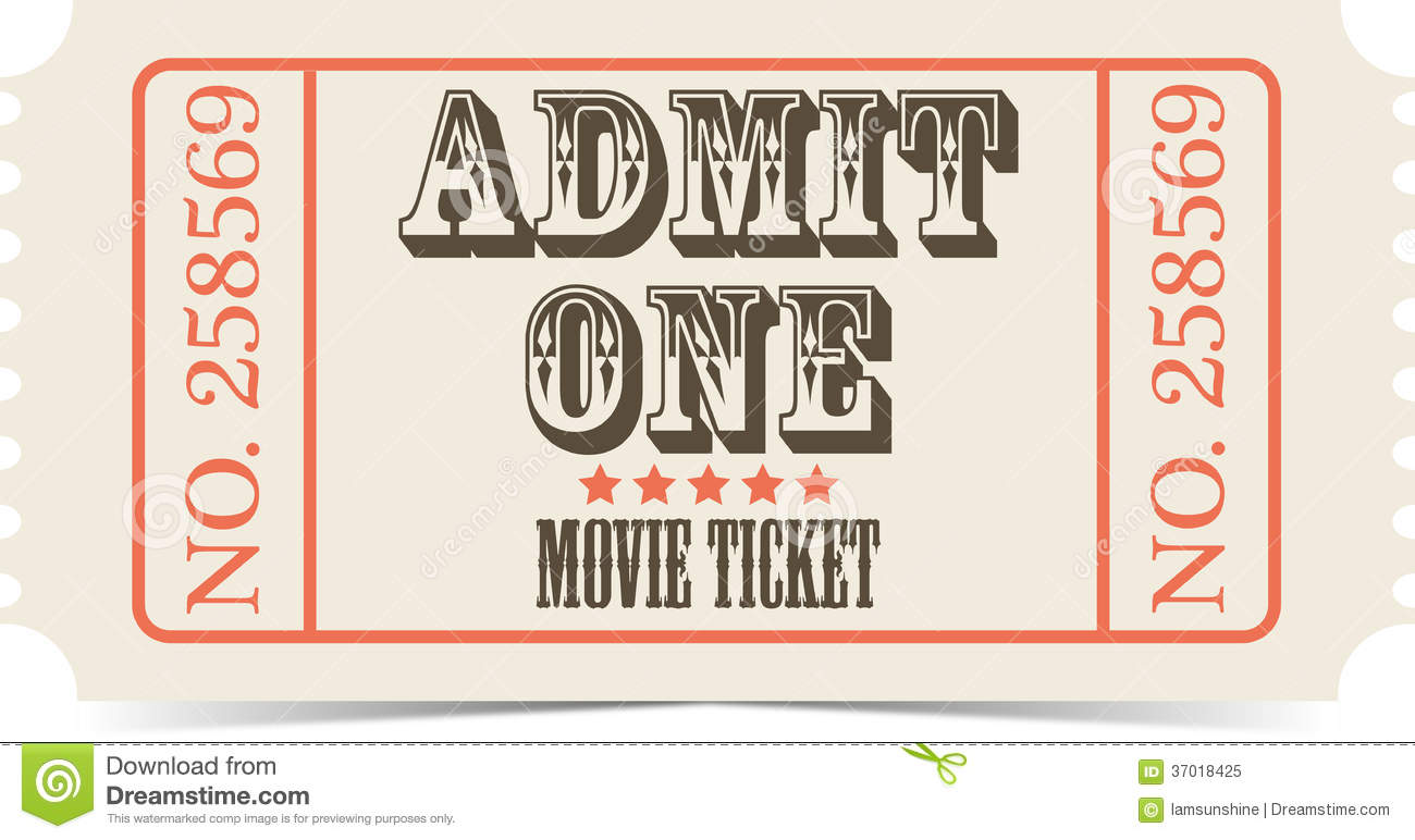 14 Movie Ticket Vector Images.