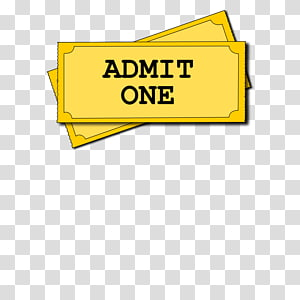 Ticket Stub transparent background PNG cliparts free.