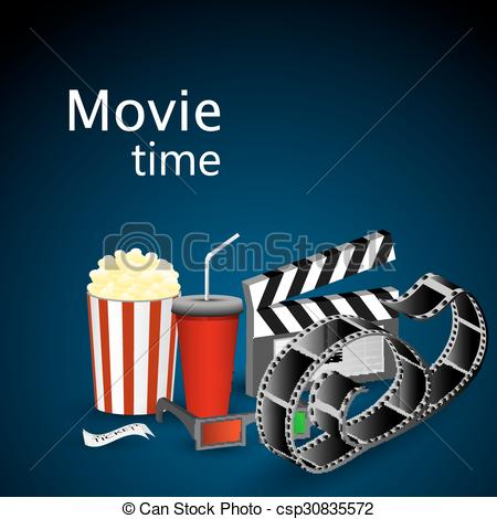 Vectors Illustration of Movie time.