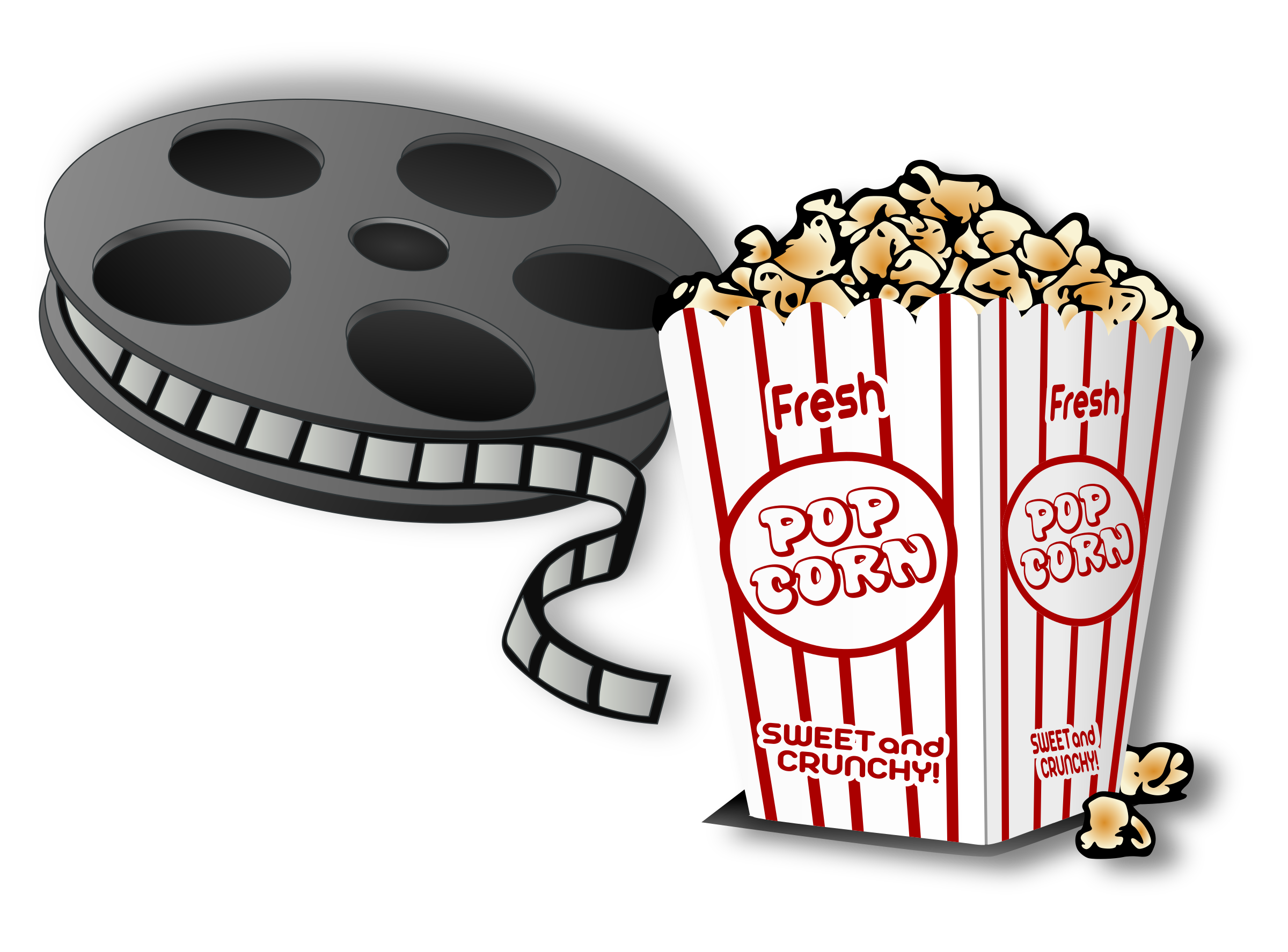 Popcorn And Movies Clipart.