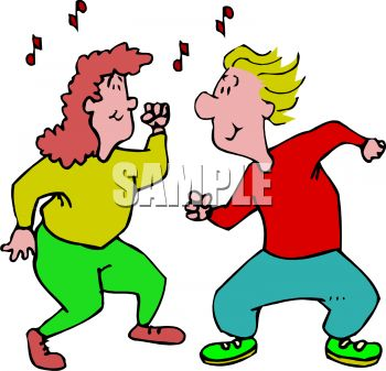 Action Moving Dancers Clipart.
