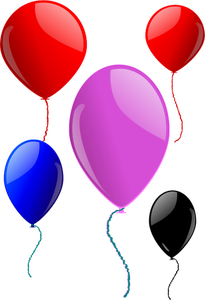 1277 animated party balloons clipart.