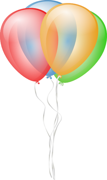 Balloons 2 Clip Art at Clker.com.