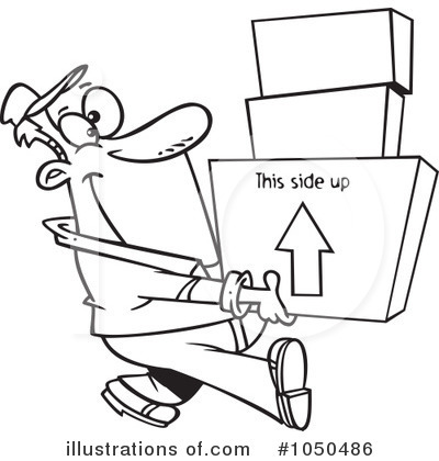 Moving Clipart Black And White.