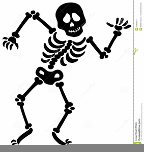 Skeleton Moving Clipart.