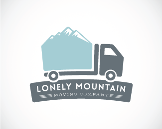 Lonely Mountain Moving Company Designed by SushiRollDesigns.